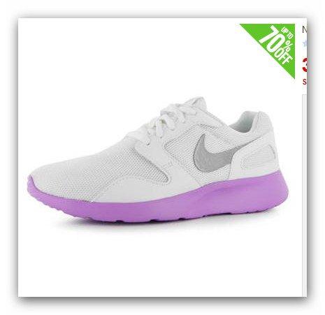 Nike Kaishi Damen Weiss/Grau/Lila 37,61€ unter Idealo bei Sportsdirect