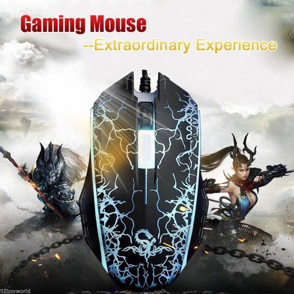 Neue Gaming Maus für 1€ bei Ebay (DPI-Taste, LED-Beleuchtung)