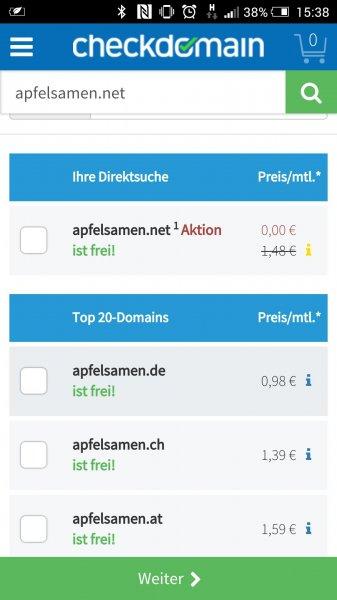 (Checkdomain.de) Oktobersale viele Toplevel-Domains kostenlos für 12Monate