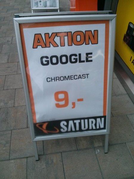 [saturn ansbach] chromecast für 9€
