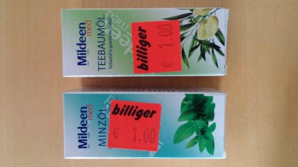 30ml Mildeen Teebaumöl oder Minzöl lokal @ Aldi Essen Holsterhausen für 1 €