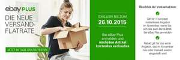 ebay Plus Anmeldung bis 26.10 = 1x Verkauf gratis