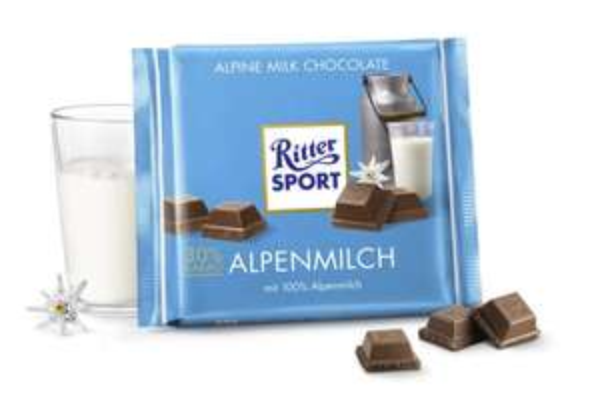 [MAINTAL] Globus: Ritter Sport Alpenmilch/Kleines Dankeschön 250g (große Tafel) für 1,00€