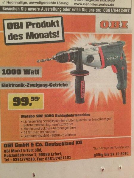 [Lokal Erfurt] Metabo SBE 1000 Schlagbohrmaschine