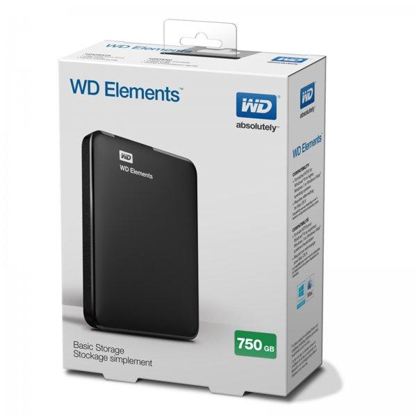 [Ebay-Mediamarkt] WD Elements Portable- 750GB tragbare Festplatte inkl. Sicherungssoftware, 2.5 Zoll für 39,99€ Versandkostenfrei (ab 8.00 Uhr)