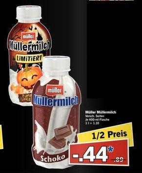 [Lidl Bundesweit] Nur am 30.10 bzw 31.10 (je nach Feiertag) Müllermilch 400ml, verschiedene Sorten für je 0,44€