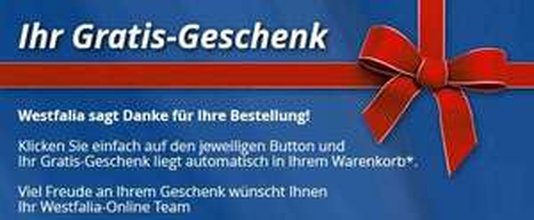 [Westfalia] Gratis-Produkte (Multi-Tool,Thermo Edelstahlbecher, Uhr etc.) ab 25 € Bestellwert