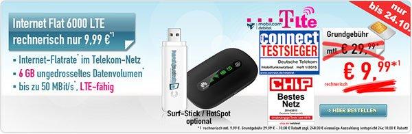 [MD-Handybude-D1] Datentarif 6GB im Telekom LTE-Netz mit bis zu 50MBit/s für 9,99€ pro Monat