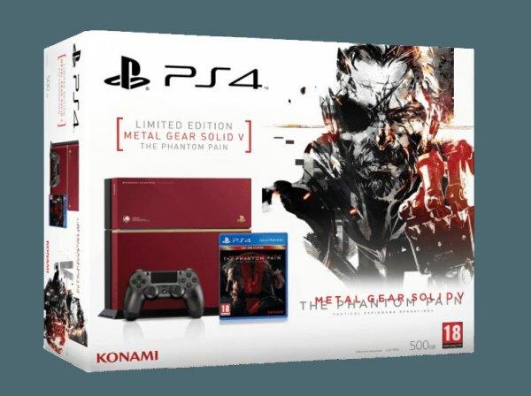 """[AT] [MediaMarkt Online]""""SONY PlayStation 4 Limited Edition Bundle 500GB inkl. Metal Gear Solid V - The Phantom Pain""""(CUH-1216) für 359€ mit NL GS (Gratis Versand nach AT) Versand nach Deutschland möglich mit D-A Packs """"Amazon: Ab 514,99€ """""""
