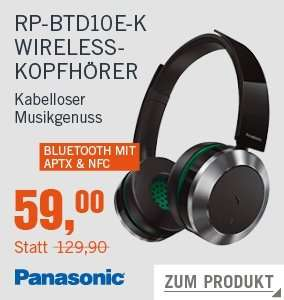 [Cyberport] Panasonic RP-BTD10E-K On Ear Bluetooth Kopfhörer