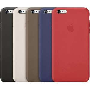 Original Apple Iphone 6 und 6S Leder Case alle Farben