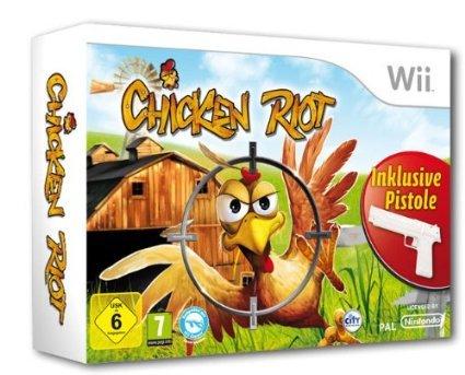 Nintendo Wii, Chicken Riot - Die wilde Hühnerjagd (Bundle inkl. Pistole) @ Amazon Prime