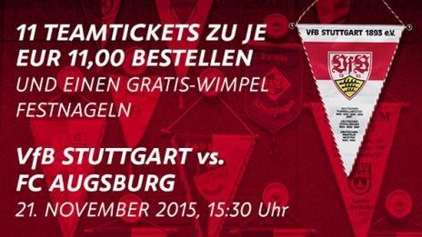 [Lokal] VfB Stuttgart Heimspieltickets 11 Freunde