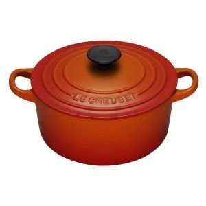 Le Creuset Tradition Bräter 18 cm rund ofenrot