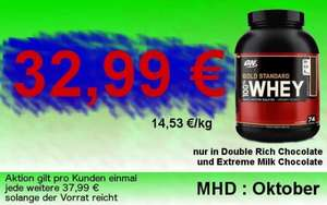 ON Gold Standard Whey 2,2 KG Dose als MHD -Hammer (Lokal Ruhrgebiet)