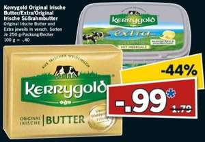 [Lidl Super Samstag* am 31.10.] Kerrygold Butter - auch Süßrahmbutter - für 99 Cent