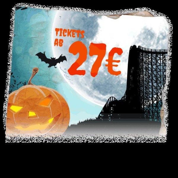 Heidepark Soltau bis 31. Oktober: Halloweeks - Tickets ab 27 € p. P.