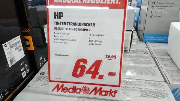 [Lokal?][MediaMarkt Weiterstadt] HP Deskjet 3633 (Netzwerkdrucker mit AirPrint Technologie)