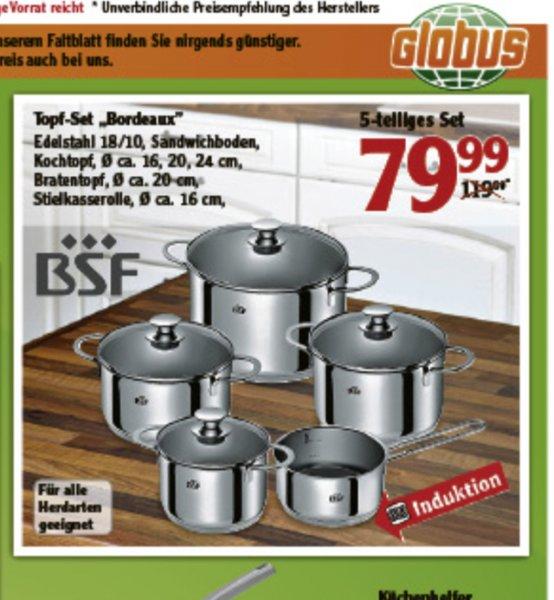 "Globus Offline ggf. nur Lokal(Lahnstein)BSF/Zwilling Topfset ""Bordeaux"""