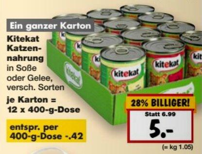 [Kaufland außer BW] KiteKat Katzenfutter 12x Dosen (0,42 pro Dose, 400g) ab Montag