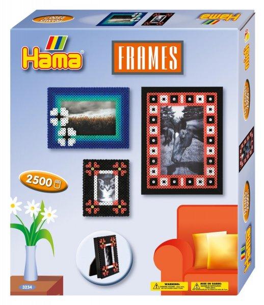 [Amazon.de-Prime] Hama 3234 - Original Bügelperlen - Geschenkpackung Bilderrahmen, circa 2500 Perlen, 2 Stiftplatten und Zubehör