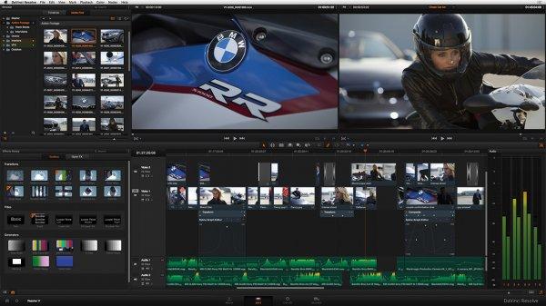 Profi Videoschnittsoftware von Blackmagic Resolve 12/Fusion 8