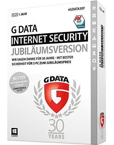 GDATA Internet Security (Jubiläumsversion) - 3 PCs / 1 Jahr für 22,21