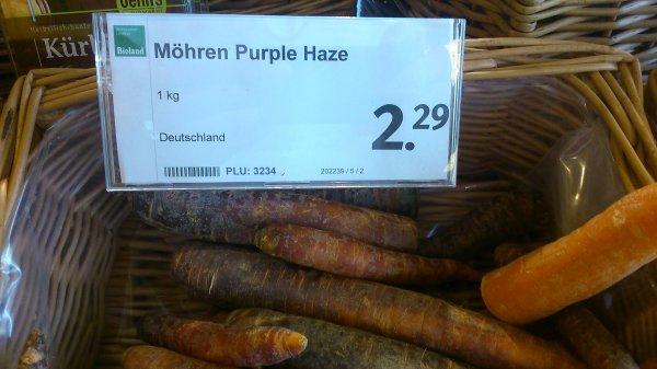 Purple Haze zum Kilopreis von 2,29€ vgl. Preis ~ 10.000€ [Möhren]