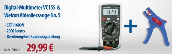 Weicon Super 5 Abisolierzange gratis bei Kauf von Voltcraft Multimeter VC 155 @ voelkner