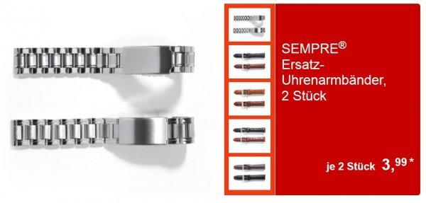 ALDI Süd - SEMPRE® Ersatz-Uhrenarmbänder - 2 Stück  3,99€