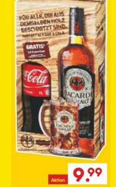 [Netto MD] Bacardi Oakhart oder Carta Blanca + 1 Liter Cola für 9,99€ ab Do,  29.10.