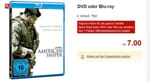 Kaufland brandenburg / Bundesweit? DVD / Blu-Ray ab 7€ zb american sniper, double feature 300 u. 300 rise of an empire plus gratis Mikrowellenpopcorn