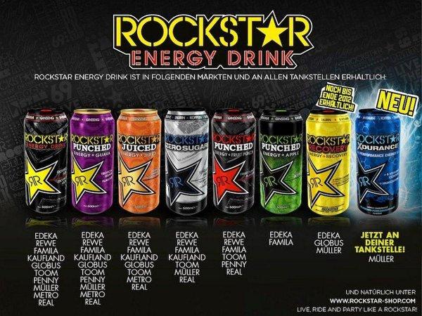 Rockstar Energy Drink, versch. Sorten @ WEZ ab Montag für 0,99