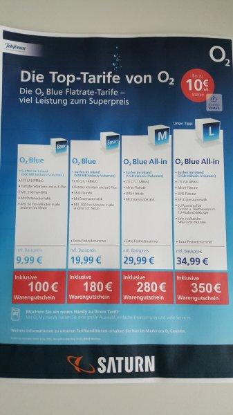 470 € Ersparnis mit o2 Blue Allin L Handyvertrag im Saturn Wolfsburg