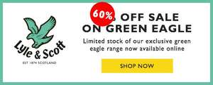 "60% Rabatt die ""Green-Eagle"" Kollektion von Lyle and Scott"