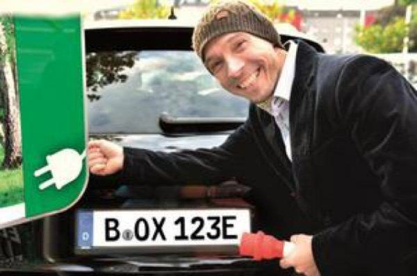 Nummernschild Elektroauto günstig