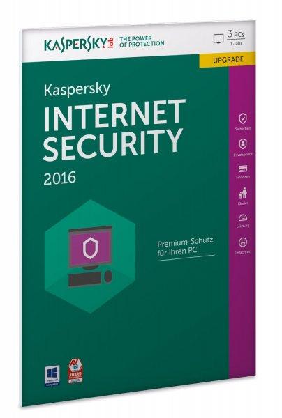 Kaspersky Internet Security 2016 3 PCs 1 Jahr UPGRADE bei Amazon.de