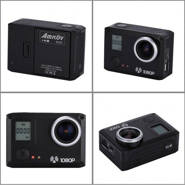 [Amazon] Amkov AMK5000S Action Cam - Versand über Amazon (1080p, 170° Weitwinkelobjektiv, 1150mAh)