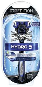 Wilkinson Sword Hydro 5 Rasierapparat mit 1 Klinge in Ultimate Black Edition bei Amazon für 3,38€