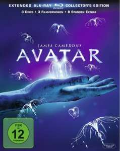 Avatar – Extended Collector´s Edition  - [3 Blu-rays] für 10,97 > [amazon.de] > Prime