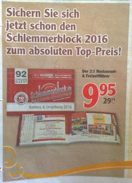 [Globus Lahnstein+Koblenz] Schlemmerblock 2016 Koblenz & Umgebung