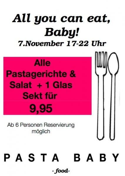 [Stuttgart] 9,95€ Pasta all you can eat bei Pasta Baby am 7.11.