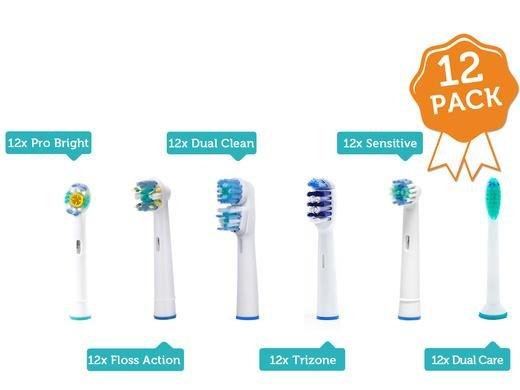 12 Bürstenköpfe für elektrische Zahnbürsten bei iBood für 9,95€ + Versand