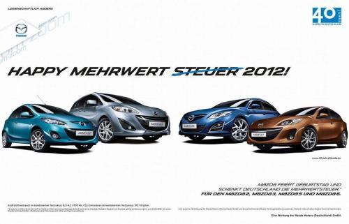 Mazda verschenkt Mehrwertsteuer