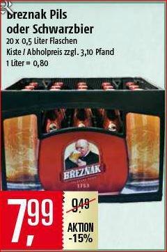 [Marktkauf] Breznak Böhmisch Schwarzbier (o. Pils) 20*0,5L