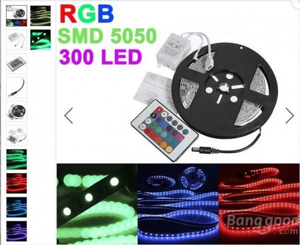[BANGGOOD] 5 Meter LED Leiste RGB LED Chip: SMD 5050 7,99 €