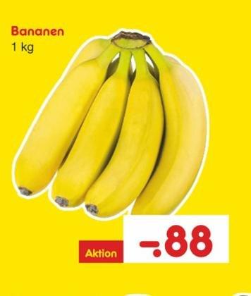 Bananen 0,88 € / kg bei netto MD (ohne Hund)