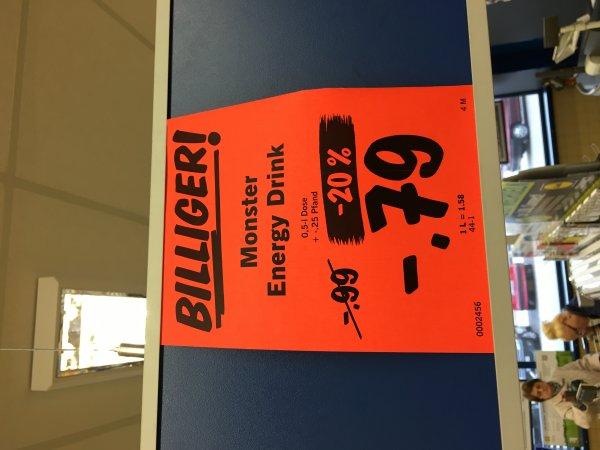 Monster Energy 0,5l für 0,79€ (+0,25€ Pfand) @ LIDL