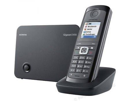Gigaset E490, DECT-Schnurlostelefon, DECTGAP, Grau/Schwarz für 59,95 € @ Allyouneed