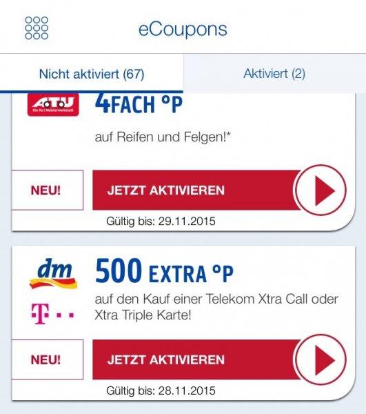 """[ DM Telekom 10€ Xtra Card """"Payback"""" ] wieder 3 Karten pro Account mit jeweils 500 Extrapunkte + Multiplikator möglich"""
